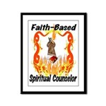 Spiritual Counselor Framed Panel Print