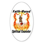 Spiritual Counselor Oval Sticker