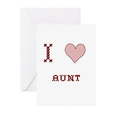 I [Heart] Aunt Greeting Cards (Pk of 10)