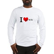 Cute I love my wife bumper Long Sleeve T-Shirt