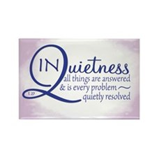 In Quietness Rectangle Magnet (10 pack)