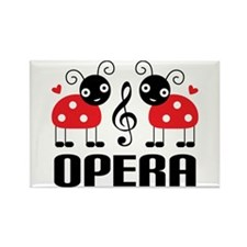 Opera Music Ladybug Rectangle Magnet