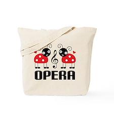 Opera Music Ladybug Tote Bag