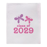 2029 Girls Graduation Throw Blanket