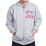 2029 Girls Graduation Zip Hoodie