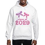 2029 Girls Graduation Hooded Sweatshirt