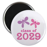 2029 Girls Graduation Magnet