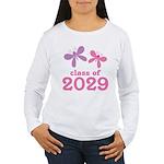 2029 Girls Graduation Women's Long Sleeve T-Shirt