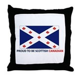 Proud to be Scottish Canadian Throw Pillow