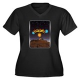 CE3K UFOs V1 Women's Plus Size V-Neck Dark T-Shirt