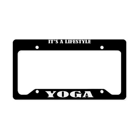Yoga Gift License Plate Holder Frame