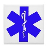 Unique Star of life Tile Coaster