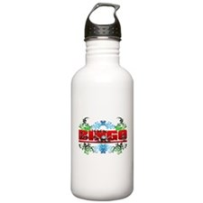 Bingo Floral Skull Chains Sports Water Bottle