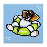 Funny Beagle Tile Coaster