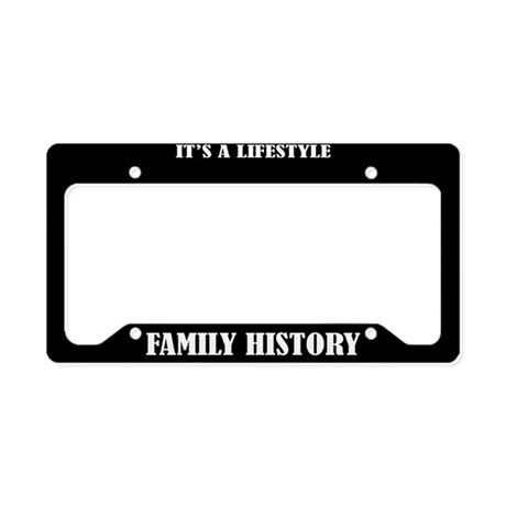 Family History Gift License Plate Holder Frame