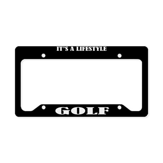 Golf Sports License Plate Holder Frame
