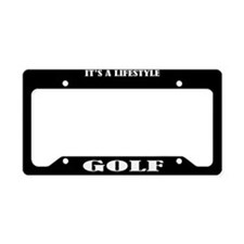 Golf Sports License Plate Holder Frame