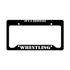 Wrestling Sports License Plate Holder Frame