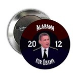 Alabama for Obama 2012 campaign button