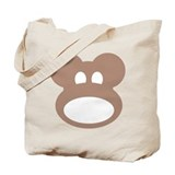 Monkeyhead Tote Bag with Logo Back
