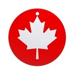 Canadian Flag Ornament (Round)