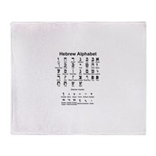 Hebrew Alphabet Throw Blanket