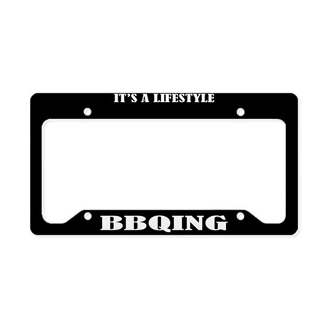 BBQing Gift License Plate Holder Frame