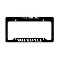 Softball Sports License Plate Holder Frame