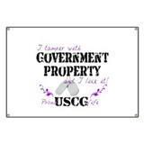Tamper w Gov Property USCG Wife Banner