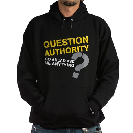 Question Authority Hoodie (dark)