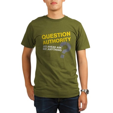 Question Authority Organic Men's T-Shirt (dark)