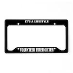 Volunteer Firefighter License Plate Holder Frame