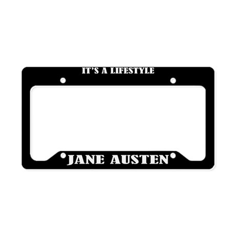 Jane Austen Gift License Plate Holder Frame