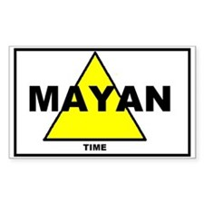 Mayan time sticker (Rectangle)