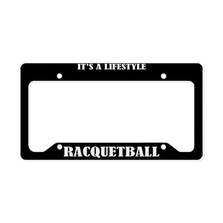 Racquetball Sports License Plate Holder Frame