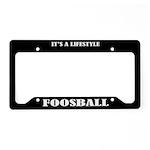 Fooseball Sports License Plate Holder Frame