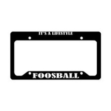 Fooseball Sports License Plate Holder Frame
