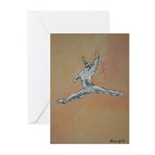 Bunny Ballet No. 4 Greeting Cards (Pk of 10)