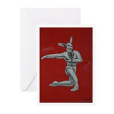Bunny Ballet No. 6 Greeting Cards (Pk of 10)