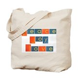 PEACE, JOY, LOVE Tote Bag