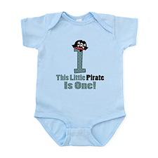 Pirate 1st Birthday One Yr Infant Bodysuit