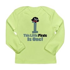 Pirate 1st Birthday One Yr Long Sleeve Infant T-Sh