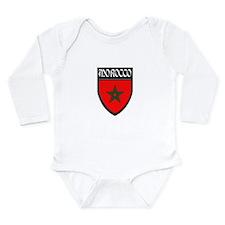 Morocco Flag Patch Long Sleeve Infant Bodysuit
