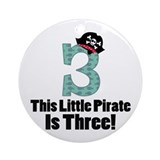 3rd Birthday Pirate Ornament (Round)