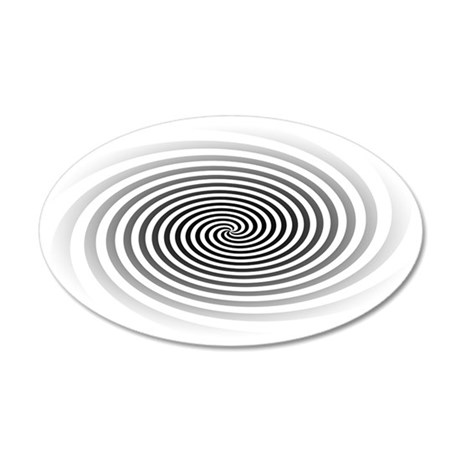 HypnoDisk 35x21 Oval Wall Decal