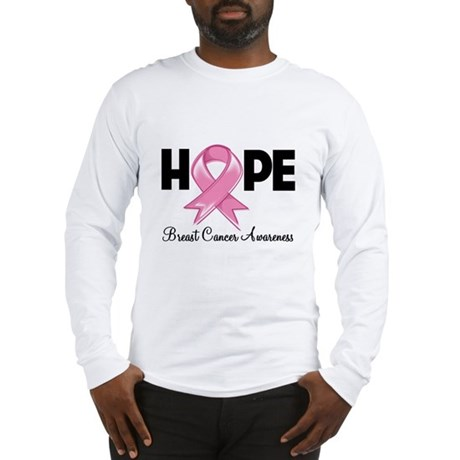 Hope Ribbon Long Sleeve T-Shirt