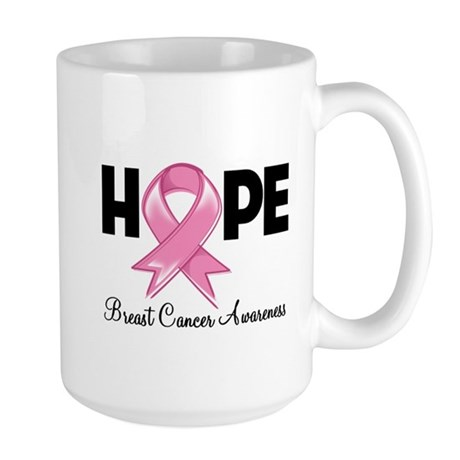 Hope Ribbon Large Mug