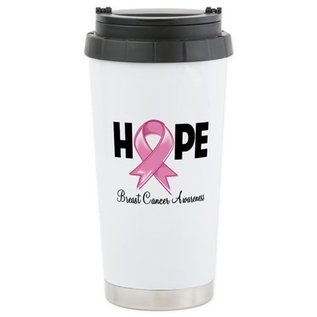 Hope Ribbon Ceramic Travel Mug