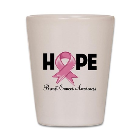 Hope Ribbon Shot Glass