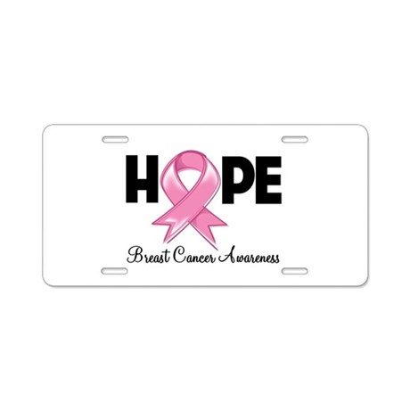 Hope Ribbon Aluminum License Plate